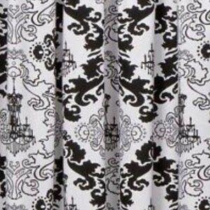 Xhilaration Black & White Chandelier Panel Pair
